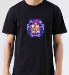 Wasted Penguinz Logo T-Shirt Crew Neck Short Sleeve Men Women Tee DJ Merchandise Ardamus.com