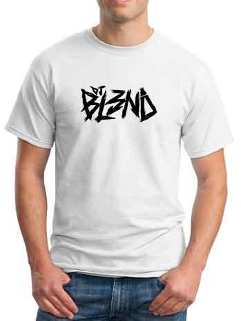 BL3ND Logo T-Shirt Crew Neck Short Sleeve Men Women Tee DJ Merchandise Ardamus.com