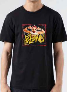 BL3ND T-Shirt Crew Neck Short Sleeve Men Women Tee DJ Merchandise Ardamus.com
