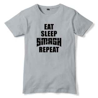 DVLM Eat Sleep Smash Repeat T-Shirt Men Women Tee by Ardamus.com Merchandise