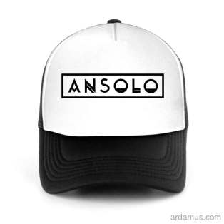 Ansolo Trucker Hat Baseball Cap DJ by Ardamus.com Merchandise