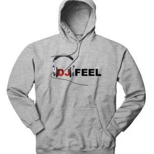 DJ Feel Logo Hoodie Sweatshirt by Ardamus.com Merchandise