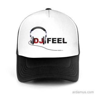 Dj Feel Logo Trucker Hat Baseball Cap DJ by Ardamus.com Merchandise