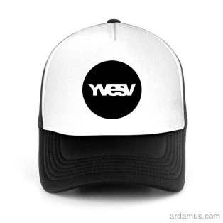 Yvesv Logo Trucker Hat Baseball Cap DJ by Ardamus.com Merchandise