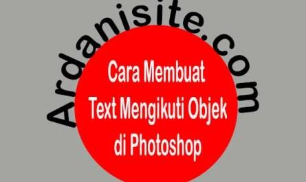 cara membuat text melingkar mengikuti objek di photoshop