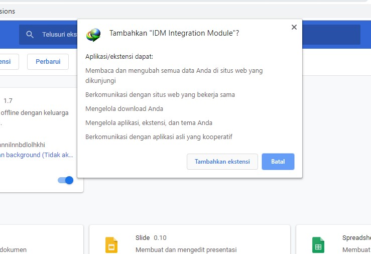 install extensi di googel chrome