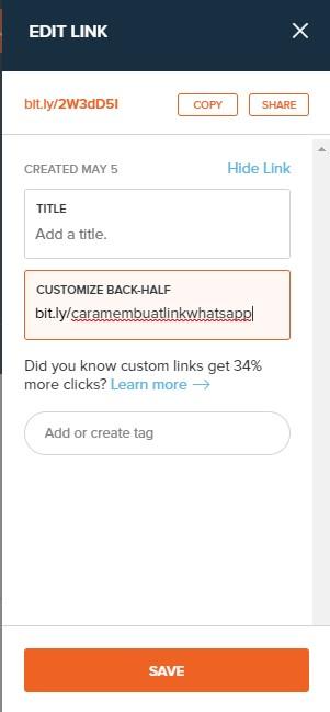 custom link whatsapp