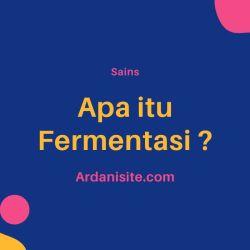 apa itu fermentasi