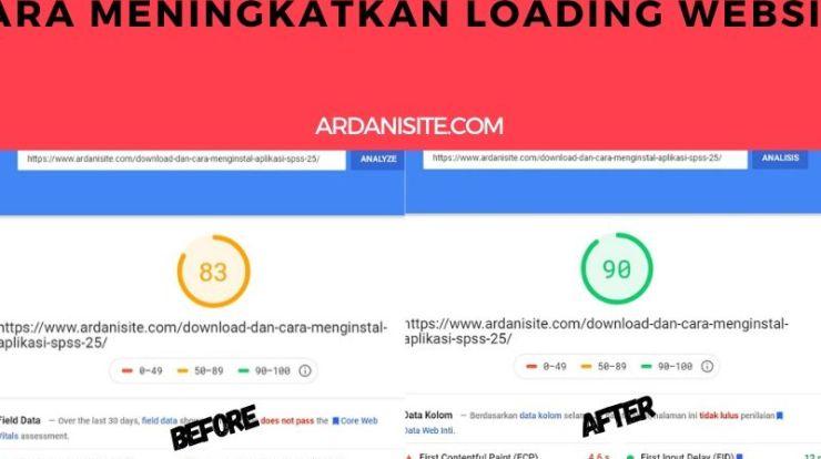 meningkatkan kecepatan loading website
