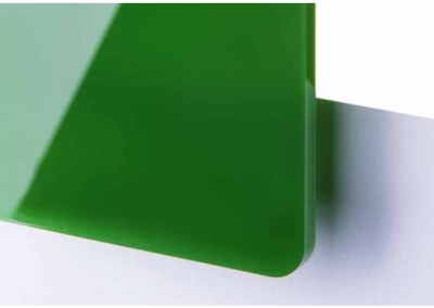 Plexi Vert foncé Translucide