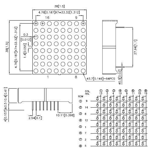 librer u00edas y hardware libre para matriz 8x8 leds con arduino