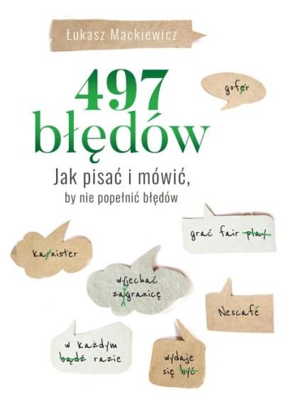 Robocza wersja okładki książki 497 błędów