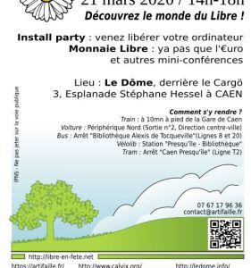 """""""Libre en fête"""" – samedi 21 mars avec Artfaille et Calvix au Dôme à Caen"""