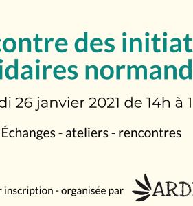 Rencontre des initiatives solidaires normandes le 26 janvier 2021