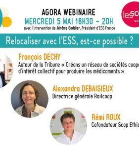 ESS France organise un webinaire le mercredi 5 mai de 18H30 à 20H