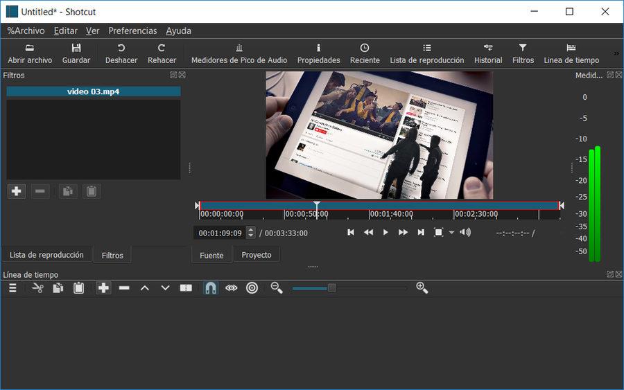 Shotcut editor de video