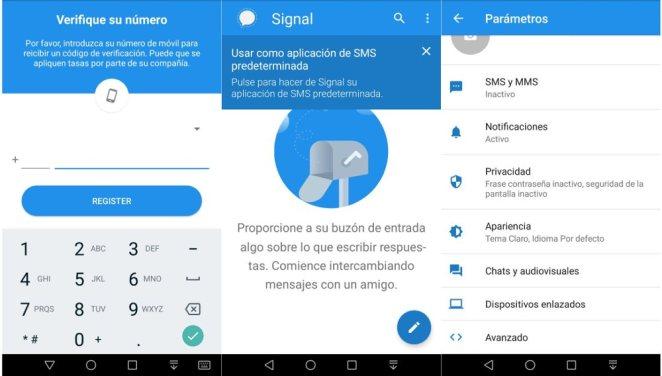 Signal mensajes cifrados android ios