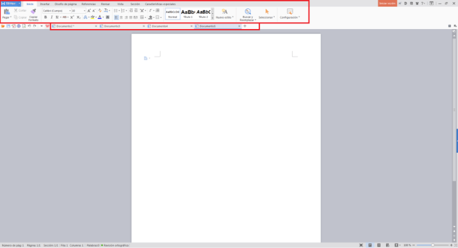 WPS Office 2016 pestañas multiples
