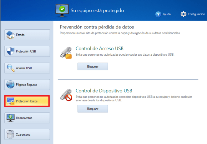 Protección de datos USB Disk Security