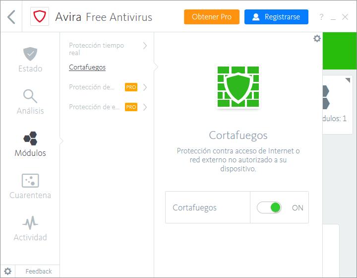 Firewall de Avira Free
