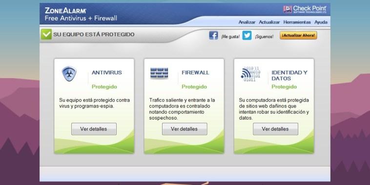 ZoneAlarm Free Antivirus con Firewall