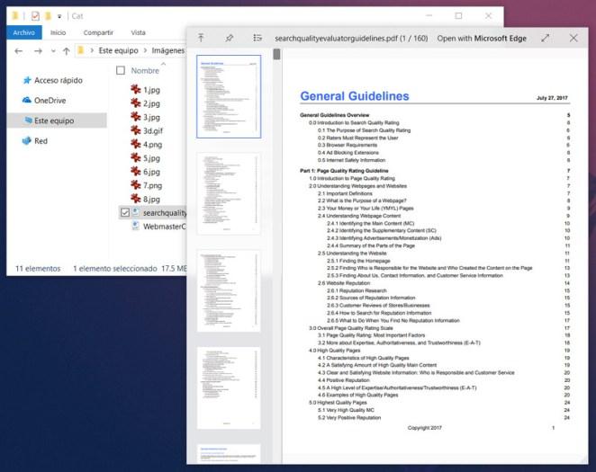 QuickLook previsualizar archivos de Windows