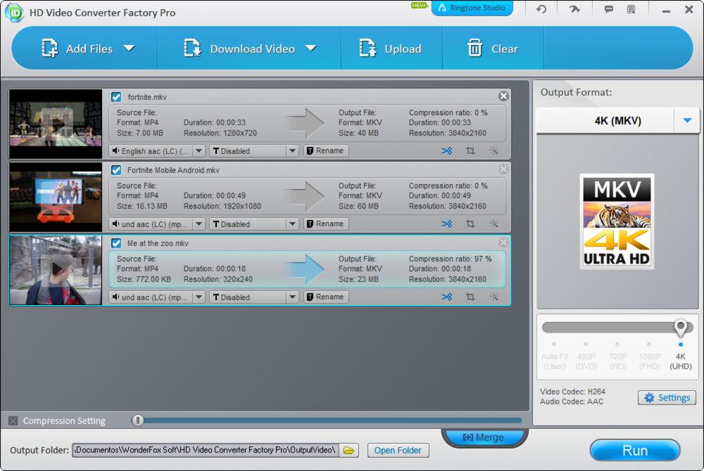 Conversión de videos WonderFox HD Video Converter