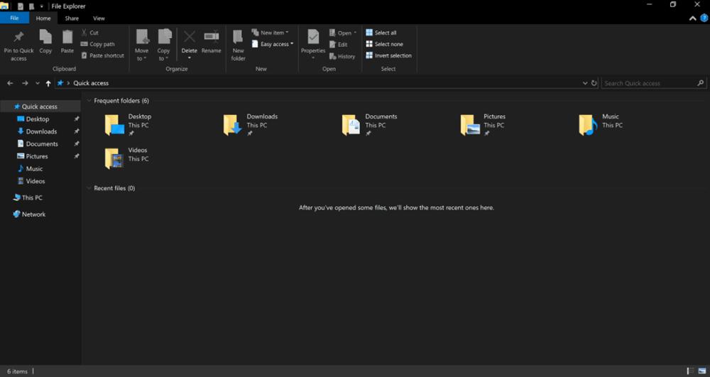 tema oscuro explorador de Windows 10