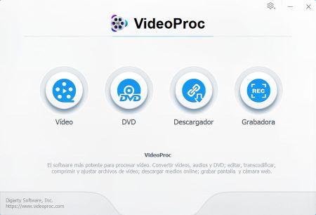 VideoProc procesamiento de video 4K