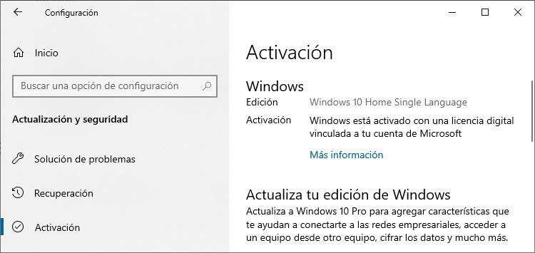Licencia digital permanente de Windows 10