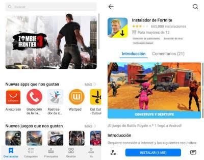 Huawei AppGallery tienda de apps Android