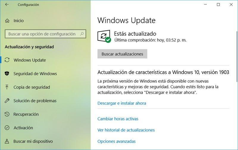 Actualizar a Windows 10 May 2019