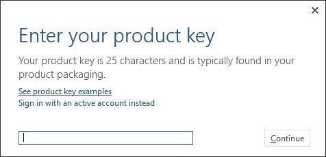 Clave de Microsoft Office