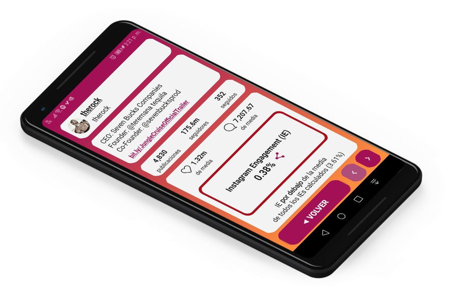 Gamgage app android para calcular engagement instagram