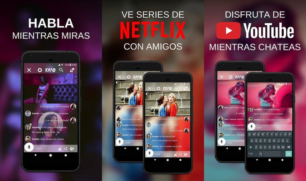 Rave, aplicación para ver películas al mismo tiempo