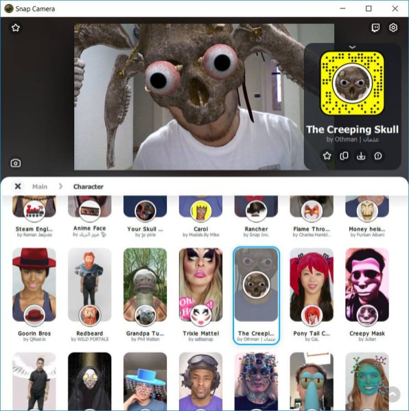 Filtros Snapchat en PC Windows