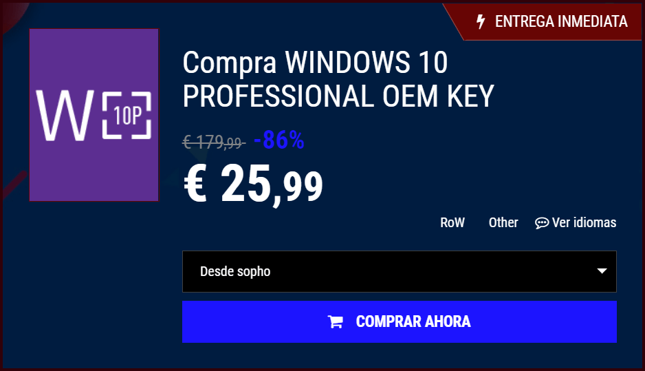 Licencias baratas Windows 10 legales