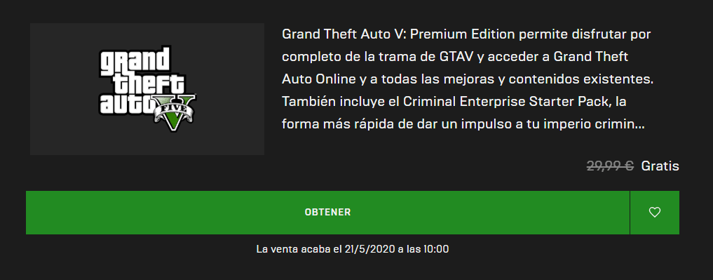 GTA V Epic Games
