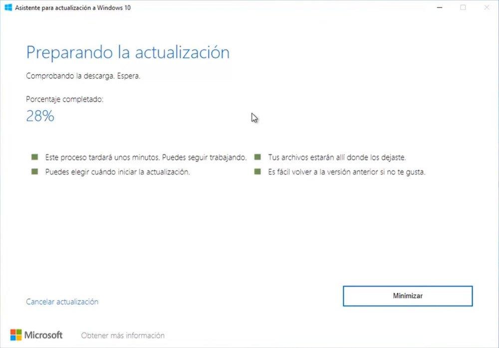 Actualizar a la última versión de Windows 10