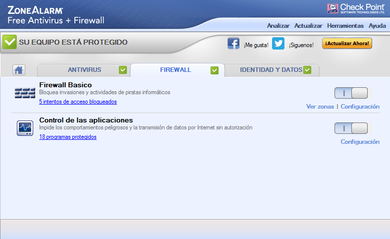Firewall gratis ZoneAlarm