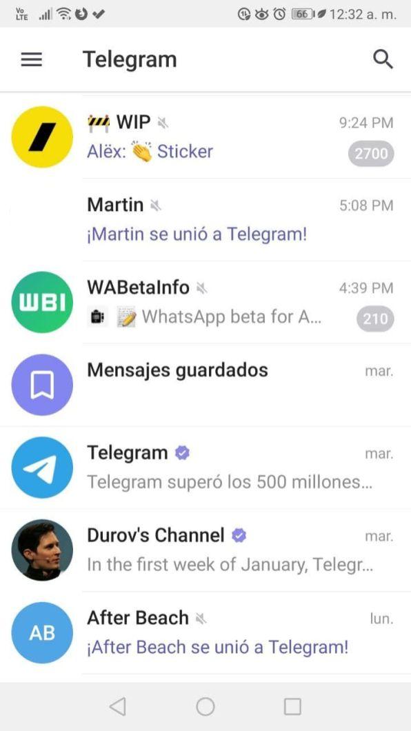 Chats Telegram