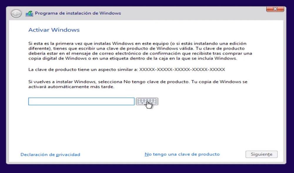 Clave de Windows 10 Pro, Home