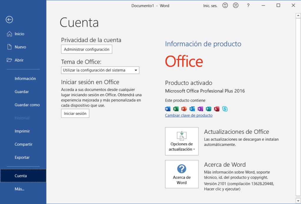 Office 2016 gratis