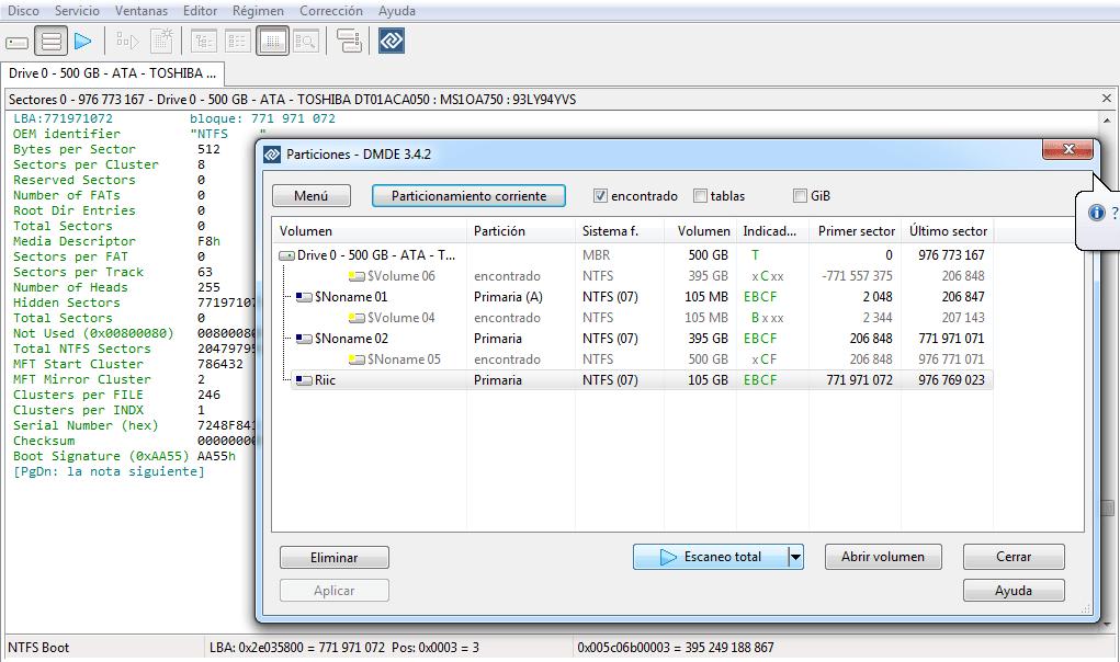 DMDE editor disco