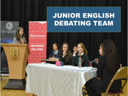 Junior Debating(2)