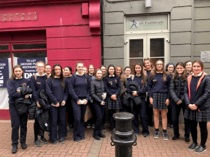 Leaving Cert Irish class visit to An Tabhiarc