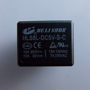 Subminiature SPDT Relè 5V - 10A/120VAC HLS8L-DC5V-S-C arduino