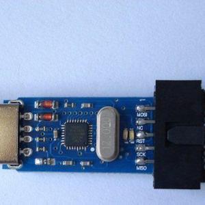 Free drive USBASP USBisp + overcurrent protection + red and blue lights + 64K limit