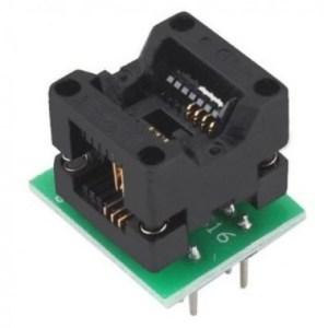Convertitore Adattatore da SOP8 a DIp8 a Corpo Stretto Compatibile Programmatori TL866