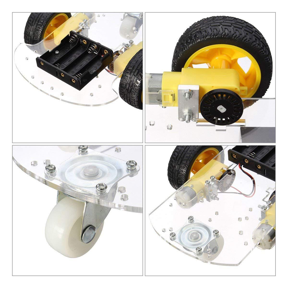 Ruota Omnidirezionale Arduino Kit Robot Macchina Smart Car 2WD